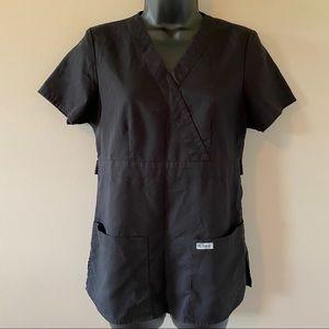 Grey's Anatomy Black Short Sleeve Scrub Top